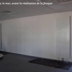 Décor mur salle restauration entreprise