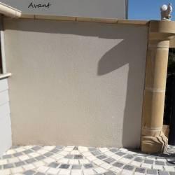 Décor mur terrasse nature avant