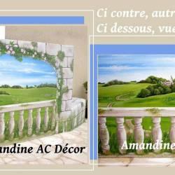 Décor mur terrasse nature différents vues