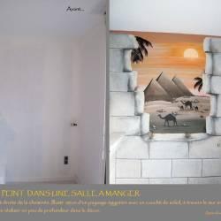 Décor mural thème égypte