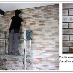 Imitation briques effet de matière