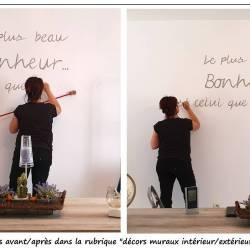 Phrase peinte sur un mur