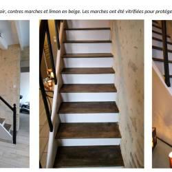 Escalier en chêne relooké suite